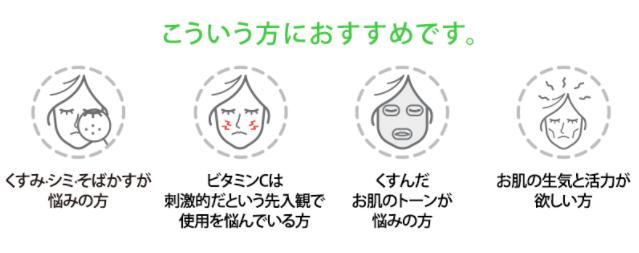 Goodal(グーダル)Green tangerine vitaC dark spot serum(グリーン タンジェリン ビタC ダークスポット セラム)の使用が推奨される人