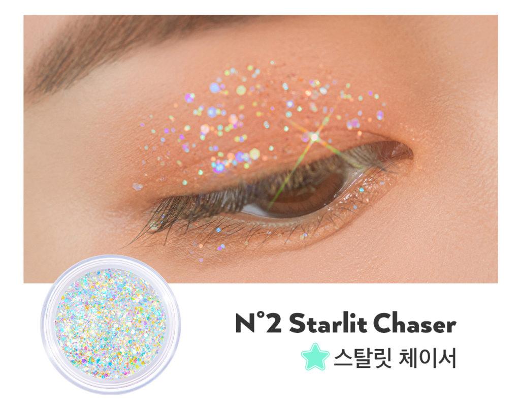UNLEASHIA(アンレシア)のGet Loose Glitter Gel N°2 Starlit Chaser(ゲットルーズグリッタージェル スターリットチェイサー)のスウォッチ