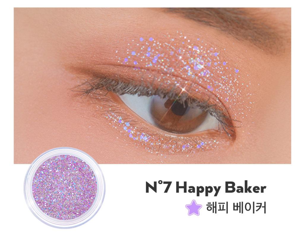 UNLEASHIA(アンレシア)Get Loose Glitter Gel N°7 Happy Baker(ゲットルーズグリッタージェル ハッピーベイカー)のスウォッチ